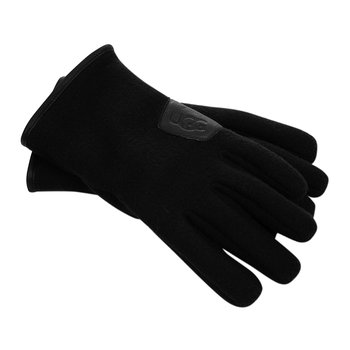 Men's Fabric & Leather Gloves - Black