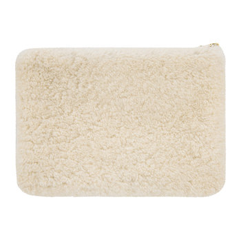 Sheepskin Zip Pouch - Natural