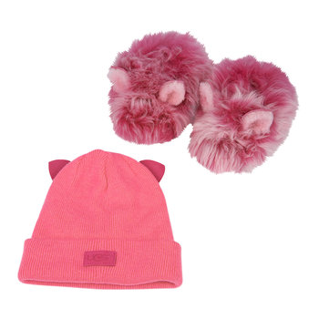 Pinkipuff Infant Hat & Slipper Set - Pink Azalea