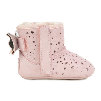 Jesse Bow II Stargirl Infant Boots - Baby Pink