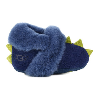 Dydo Solvi Infant Slippers - Navy/Bright Chartreuse