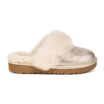 Children's Cozy II Metallic Slippers - Gold