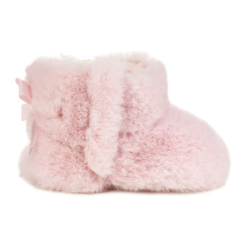 Jesse Bow II Fluffy Infant Boots - Baby Pink