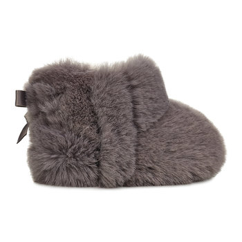 Jesse Bow II Fluffy Infant Boots - Charcoal