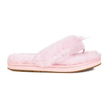 Chaussons Claquettes III à Peluche pour Femme - Rose Coquillage