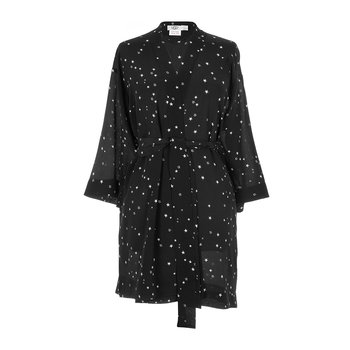 Lolla Silk Bathrobe - Black Stars