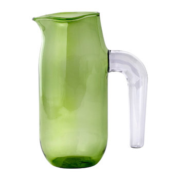 Jochen Holz Glass Pitcher - Green - Large