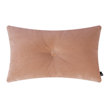 Velour Dot Cushion - 45x60cm - Rose