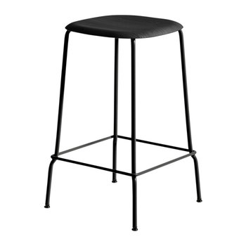 Soft Edge 30 Black Bar Stool - Low