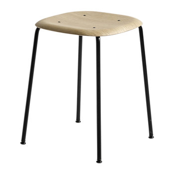 Soft Edge 70 Stool - Black