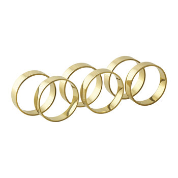 'Ring' Napkin Ring - Set of 6 - Brass