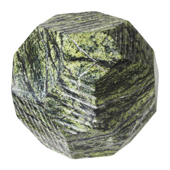 Geir Marble Stone Decorative Ornament - Small - Green