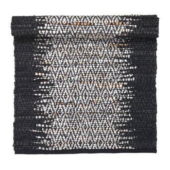 Birger Rectangular Rug - Black/Silver