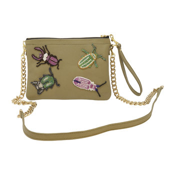 Tropical Bugs Shoulder Bag - Small - Olive