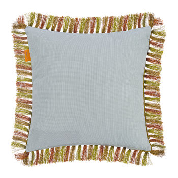 Arras Tassel Edged Reversible Cushion - Beige - 45x45cm