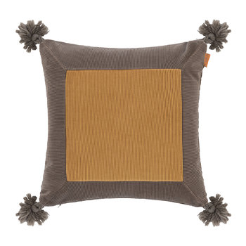 Picardie Cushion - 45x45cm - Beige/Mustard Yellow