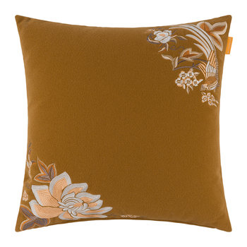 Flandre Embroidered Cushion - 45x45cm - Yellow