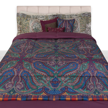 Lochy Quilted Bedspread - Purple