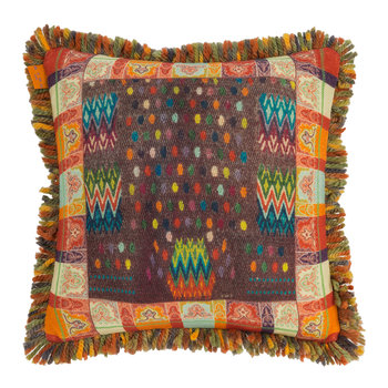 Banavie Tassel Edged Reversible Cushion - 45x45cm - Orange