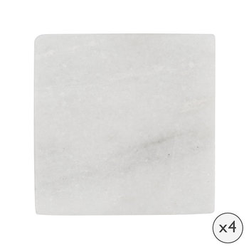Marble Coasters - Set of 4 - White