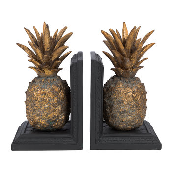 Pineapple Bookends - Set of 2 - Antique Gold