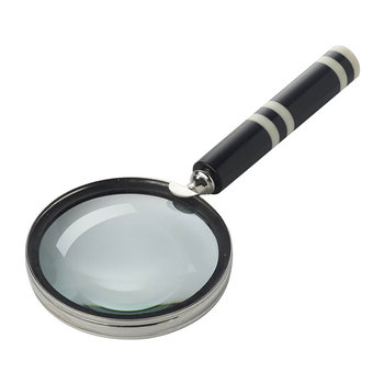 Stripe Magnifying Glass - Black/Ivory