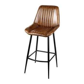 Leather Billy Barstool - Brown