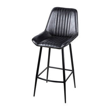 Leather Billy Barstool - Black