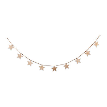 Mango Wood Star Garland - Natural