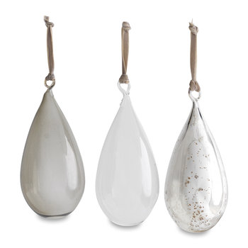 Assorted Tikari Drop Bauble - Set of 3