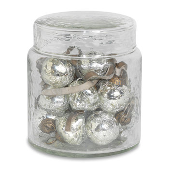 Adisa Bauble Jar - Set of 16 - Antique Silver