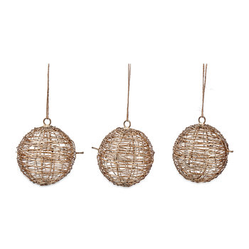 Ngoni Wire Bauble - Set of 3 - Brass