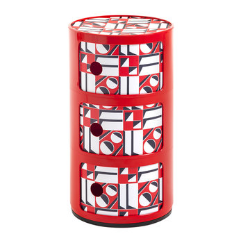 La Double J Componibili Storage Unit - Red Geometric