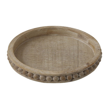 Terrain Round Wooden Tray - Natural