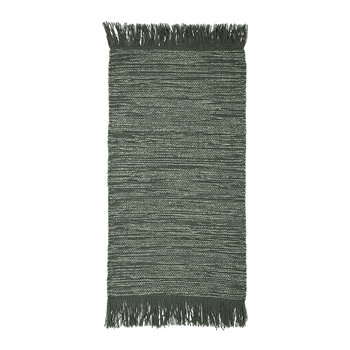 Tassel Edged Cotton Rug - 120x60cm - Green