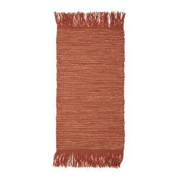 Tassel Edged Cotton Rug - 120x60cm - Orange