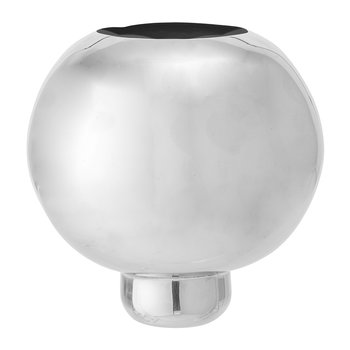 Raised Aluminum Vase - Silver