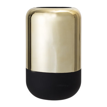Gold/Black Glass Pill Vase
