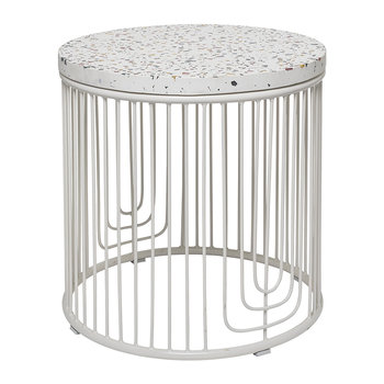 Cap Side Table - White