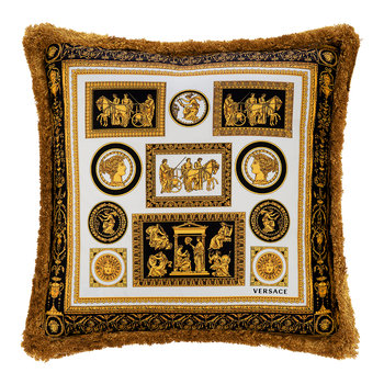 Cornici Cushion - 45x45cm - Black/Gold/White/Blue