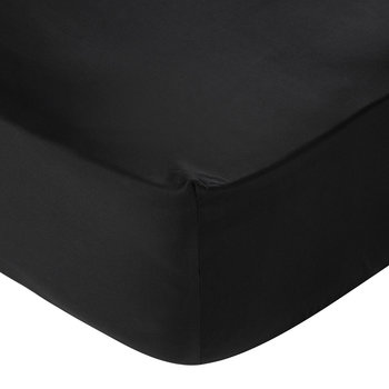 Barocco&Robe Fitted Sheet - 155x205cm - Black