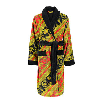 I Love Baroque Bathrobe - Red/Gold/Black