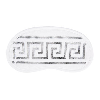 Medusa Crystal Eye Mask - White
