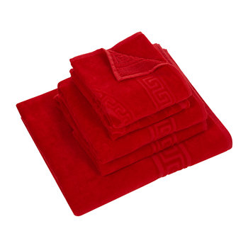 Medusa Classic Bath Towels - Set of 5 - Red