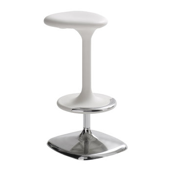 Kant Adjustable Swivel Stool - White