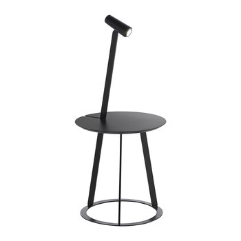 Albino Side Table & Lamp - Black