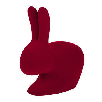 Flocked Rabbit Chair - Red
