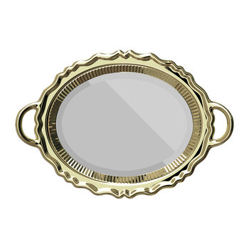 Tray Wall Mirror - Gold