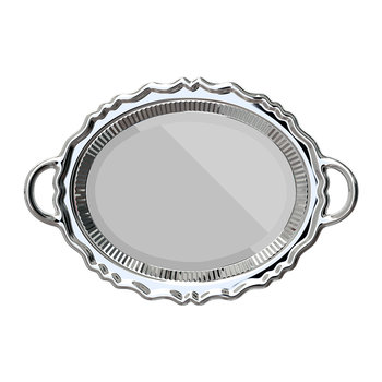 Tray Wall Mirror - Silver