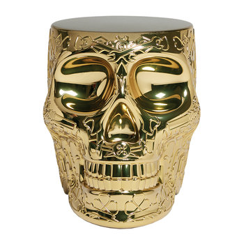 Mexico Skull Stool/Side Table - Gold